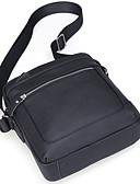 cheap Men's Accessories-Men's Bags Cowhide Crossbody Bag Zipper Black / Coffee