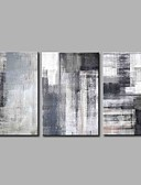 halpa Hääbolerot-Hang-Painted öljymaalaus Maalattu - Abstrakti Yksinkertainen / Moderni Sisällytä Inner Frame / 3 paneeli / Venytetty kangas
