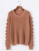 olcso Női pulóverek-Női Hosszú ujj Hosszú Pulóver - Kivágott, Egyszínű / Ősz / Tél
