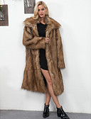 cheap Women's Coats & Trench Coats-Women's Going out / Work Vintage / Active Faux Fur Fur Coat - Solid Colored