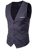 cheap Men's Blazers & Suits-Men's Plus Size Cotton Slim Vest - Solid Colored