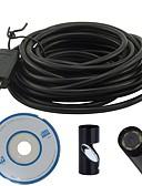 billige Kjoler-usb endoskop 7mm objektiv 25m insepktion borescope vandtæt kamera slange video endoscopio mini kamera usb endoskop