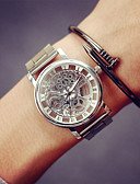 cheap Sport Watches-Men's Wrist Watch Chinese Casual Watch Stainless Steel Band Charm Silver / Gold