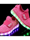 זול עליוניות לנשים-בנות נעליים טול סתיו נוחות נעלי ספורט ל אדום / כחול / ורוד ולבן
