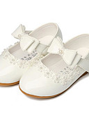 Χαμηλού Κόστους Φορέματα για κορίτσια-Κοριτσίστικα PU Αθλητικά Παπούτσια Τα μικρά παιδιά (4-7ys) Λουλουδάτα φορέματα για κορίτσια Λευκό / Μαύρο / Κόκκινο Άνοιξη / Φθινόπωρο