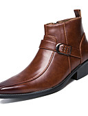 povoljno Muške košulje-Muškarci Fashion Boots Koža Jesen / Zima Čizme Čizme gležnjače / do gležnja Crn / Braon / Zabava i večer