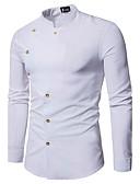 baratos Camisas Masculinas-Homens Camisa Social - Festa Estilo Clássico Moderno / Contemporâneo Sólido Colarinho Clerical