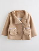 tanie Kurtki i płaszcze dla dziewczynek-Brzdąc Dla dziewczynek Solidne kolory Długi rękaw Bawełna Odzież puchowa / pikowana
