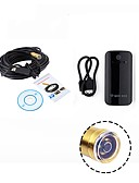 cheap Quartz Watches-WIFI Endoscope 14.5MM Lens 15M Cable Waterproof IP67 Android USB Camera Snake Inspection Borescope for IOS PC Wireless Cam