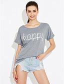 preiswerte T-Shirt-Damen Solide Buchstabe - Anspruchsvoll Street Schick Ausgehen Baumwolle T-shirt