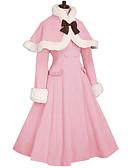 Χαμηλού Κόστους Φορέματα Λολίτα-Πριγκίπισσα Γλυκιά Λολίτα Υπαίθριο Blană Curată Girly Γυναικεία Κοριτσίστικα Επίστρωση Cosplay Μπλε / Ροζ / Φούξια Μακρυμάνικο Μέχρι το γόνατο Κοστούμια