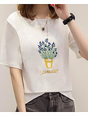 cheap Women's Two Piece Sets-Women's Cotton T-shirt - Plants Print