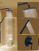 abordables Panties-Grifo de ducha - Redondo Bronce Aceitado Sistema ducha Válvula Cerámica