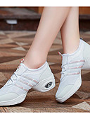 cheap Plus Size Dresses-Women's Dance Sneakers Tulle Flat / Heel Dance Shoes White / Black / Practice