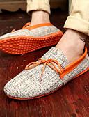 זול בלייזרים וחליפות לגברים-בגדי ריקוד גברים מוקסין בד קיץ נעליים ללא שרוכים כתום / ירוק / כחול
