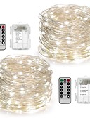 cheap Women's Sweaters-10m String Lights 100 LEDs Warm White / White / Multi Color Remote Control / RC / Dimmable / Waterproof Battery / IP65 / Color-Changing