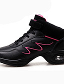Χαμηλού Κόστους Βραδινά Φορέματα-Γυναικεία Παπούτσια Χορού Τρίχωμα Μόσχου Χωρίς Τακούνι Κόψιμο Επίπεδο Τακούνι Παπούτσια Χορού Λευκό / Μαύρο-Άσπρο / Ροζ