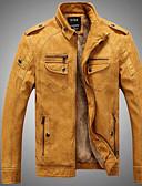 お買い得  メンズジャケット&コート-男性用 ジャケット - パンク&ゴシック スタンド ソリッド
