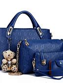 povoljno Haljine za djevojčice-Žene Patent-zatvarač PU Bag Setovi Kompleti za vrećice 4 kom Crn / Bijela / Plava