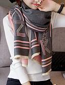 cheap Fashion Scarves-Women's Imitation Cashmere Rectangle - Striped