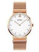 cheap Dress Watches-SKMEI Men's Wrist Watch Japanese Casual Watch Stainless Steel Band Charm Silver / Rose Gold