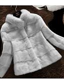 cheap Women's Fur & Faux Fur Coats-Women's Work Fur Coat - Solid Colored Stand