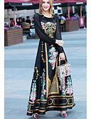 cheap Women's Dresses-Women's Going out Swing Dress - Floral Print High Rise Maxi / Spring