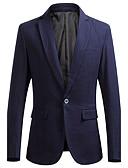 ieftine Polo Bărbați-Bărbați Muncă Primăvară / Toamnă Mărime Plus Size Regular Blazer, Mată Manșon Lung Poliester / Altele Negru / Bleumarin / Mov XXXXL / XXXXXL / XXXXXXL
