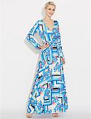 preiswerte Maxi-Kleider-Damen Festtage Street Schick Hülle Kleid Blumen Geometrisch Maxi V-Ausschnitt Hohe Hüfthöhe