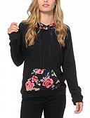 abordables T-shirts Femme-Femme Basique Pantalon - Fleur Imprimé Noir / Vacances