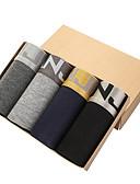 رخيصةأون ملابس داخلية وجوارب للرجال-للرجال سوبر مثير شورتات بوكسر سادة 4 قطعات