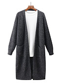 tanie Męskie swetry i swetry rozpinane-Męskie Długi Rozpinany Jendolity kolor Długi rękaw