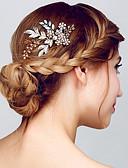 billige Moderigtige hårsmykker-Dame glitter Metallic citrin Hårkam Ensfarvet