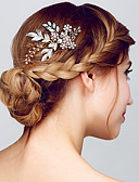 cheap Fashion Headpieces-Women's Glitters Metallic Citrine Hair Comb - Solid Colored