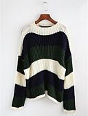 رخيصةأون قمصان نسائية-مخطط جاكيت صوف كم طويل للمرأة