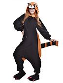 tanie Swetry damskie-Dla dorosłych Piżama Kigurumi Szop pracz Niedźwiedź Piżama Onesie Polar Czarny Cosplay Dla Mężczyźni i kobiety Animal Piżamy Rysunek Halloween Festiwal/Święto