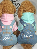 cheap Mother of the Bride Dresses-Dog Jumpsuit Dog Clothes Letter & Number Blue / Pink Cotton Costume For Pets Men's / Women's Casual / Daily