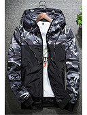 cheap Men's Jackets & Coats-Men's Active Plus Size Jacket - Camouflage, Classic Style Hooded