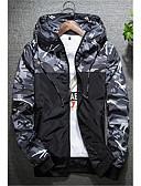 ieftine Jachete & Paltoane Bărbați-Bărbați Capișon Mărime Plus Size Jachetă Activ - camuflaj, Stil Clasic