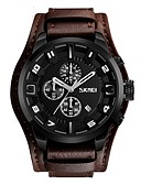 cheap Sport Watches-SKMEI Men's Sport Watch / Wrist Watch Chinese Calendar / date / day / Water Resistant / Water Proof / Stopwatch Genuine Leather Band Luxury / Vintage / Fashion Black / Brown / Large Dial