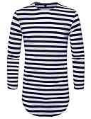 cheap Men's Tees & Tank Tops-Men's Street chic Cotton T-shirt - Striped Round Neck