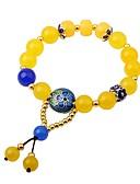 رخيصةأون تيشيرتات نسائية-للمرأة يماني عقيق أساور حبلا - موضة سوار أصفر من أجل هدية ذهاب للخارج