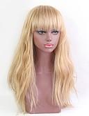 baratos Leggings para Mulheres-Perucas de cabelo capless do cabelo humano Cabelo Humano Ondulado Riscas Naturais Longo Fabrico à Máquina Peruca Mulheres