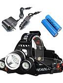 baratos Calcinhas-3000 lm Lanternas de Cabeça / Luzes de Bicicleta / Farol para Bicicleta Cree XM-L T6 4.0 Modo LS052 - Impermeável / Resistente ao Impacto / Recarregável