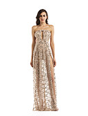 tanie Sukienki-Damskie Swing Sukienka - Solidne kolory Z odsłoniętymi ramionami Maxi / Seksowny