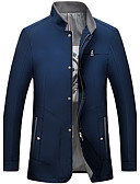 cheap Men's Jackets & Coats-Men's Basic Jacket-Solid Colored Stand