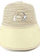 baratos Chapéus Femininos-Mulheres Chapéu De Palha - Floral / Estampado / Verão