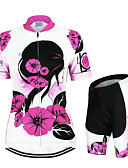 cheap Fashion Scarves-Arsuxeo Women's Short Sleeves Cycling Jersey with Shorts Floral / Botanical Bike Clothing Suits, Quick Dry, Anatomic Design, Breathable