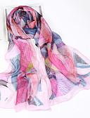 זול צעיפים אופנתיים-מלבן משי שיפון דפוס בגדי ריקוד נשים