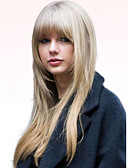 baratos Leggings para Mulheres-Perucas de cabelo capless do cabelo humano Cabelo Humano Liso Longo Fabrico à Máquina Peruca Mulheres / Reto